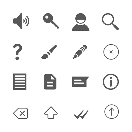 Web Interface icons set. website, internet, page concept - flat isolated , signs, illustrations set vector Illustration