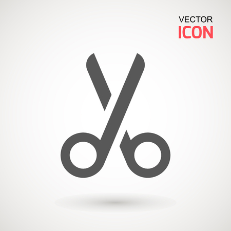 Scissors icon. Cutting scissors icon. Vector illustration. Isolated on white background. Web design element.
