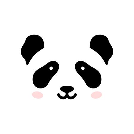 Cute panda face. Vector illustration panda bear . Logo design template. Animal Logotype concept icon .