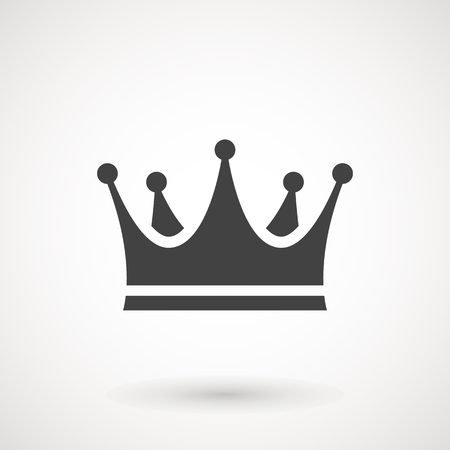 Crown Icon in trendy flat style isolated on white background. Crown symbol for your web site design,   app, UI. Vector illustration