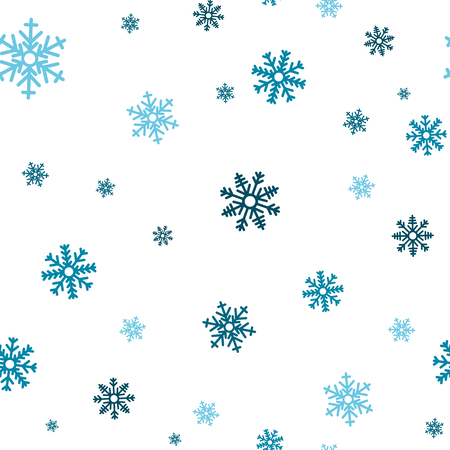 Snowflake seamless pattern. Snow on white background. Abstract wallpaper, wrapping decoration. Symbol winter, Merry Christmas holiday, Happy New Year celebration Vector illustration