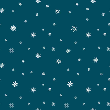 Snowflake seamless pattern. Snow on white background. Abstract wallpaper, wrapping decoration. Symbol winter, Merry Christmas holiday, Happy New Year celebration Vector illustration Vetores