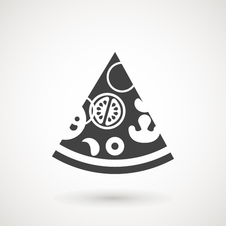 pizza icon, fast food solid vector sign, pizza pictogram isolated on white, illustration.