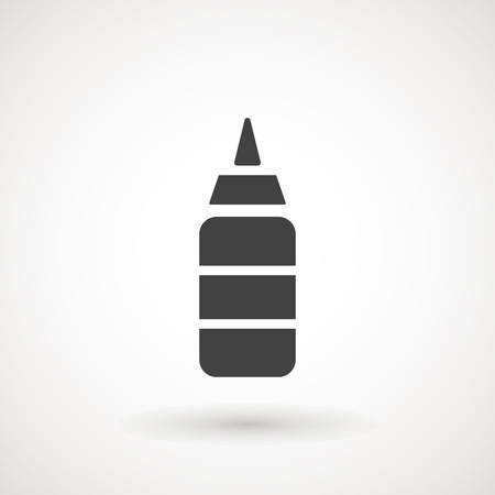 Ketchup Bottle line icon, outline vector sign, linear pictogram isolated on white. logo illustration  イラスト・ベクター素材
