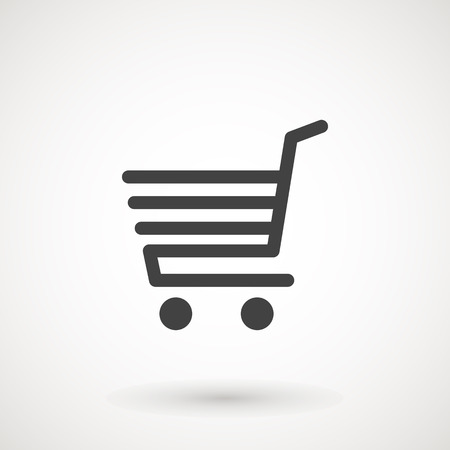 Shopping Cart icon, flat design best vector icon. Supermarket trolley icon. Illustration