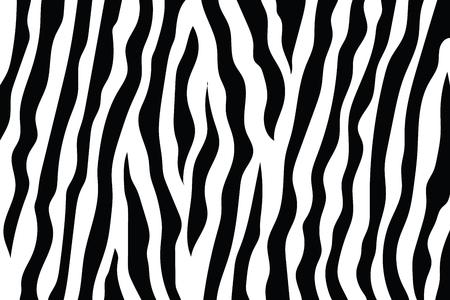Zebra strepen patroon. Zebraprint, dierenhuid, tijgerstrepen, abstract patroon, lijnachtergrond, stof. Geweldige hand getekend vectorillustratie. Poster, banner. Zwart-wit artwork zwart-wit