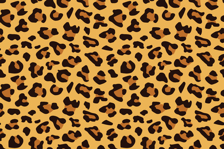 Leopard seamless pattern. Animal print. Vector background. Stok Fotoğraf - 106917980