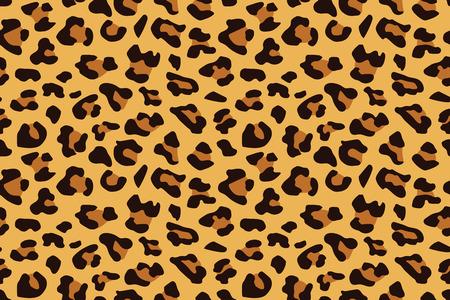 Modèle sans couture léopard. Empreinte d'animal. Fond de vecteur.