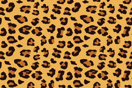 Leopard seamless pattern. Animal print. Vector background.