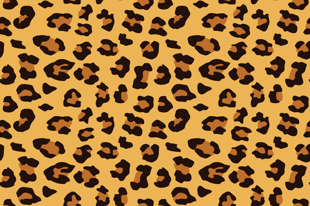 Nahtloses Muster des Leoparden. Tierdruck. Vektorhintergrund.