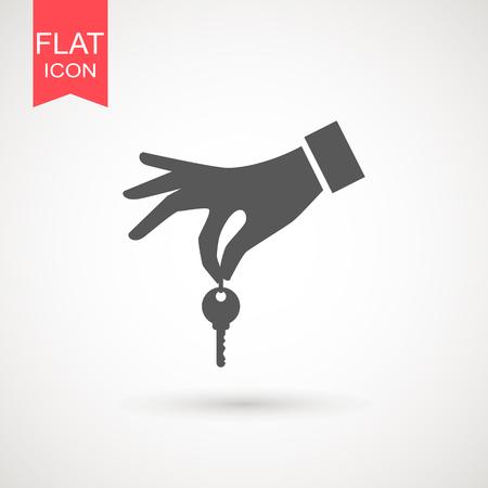 Hand holding a key icon, hand key icon vector Vettoriali