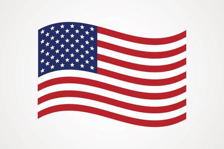 Icône de vecteur de drapeau américain. Le drapeau des États-Unis d'Amérique