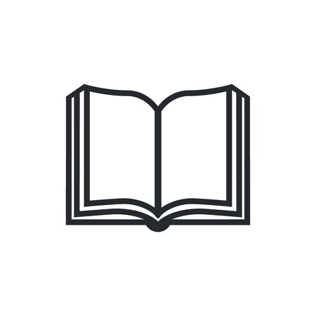 Book icon vector, solid illustration, pictogram isolated on white. Stock Illustratie