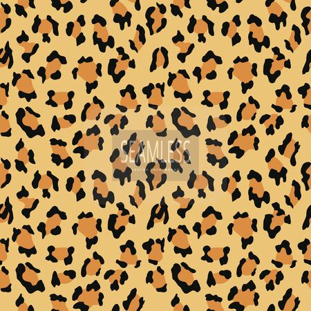 Leopard seamless pattern. Animal print. Vector background.animal skin, tiger stripes, abstract pattern, line background, fabric. Amazing hand drawn vector illustration. Poster banner
