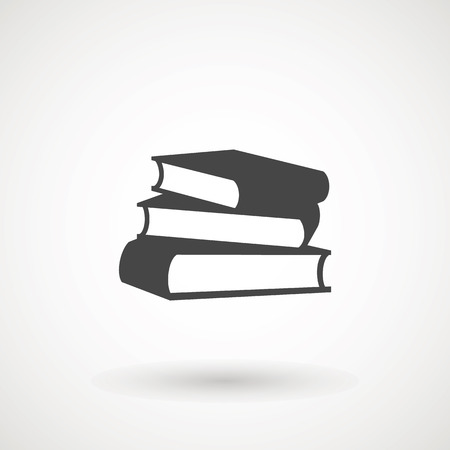Books icon vector, solid illustration, pictogram isolated on white. High quality pictograms of read. Modern style icons collection. Diary, book, library, pages, textbook etc Vettoriali
