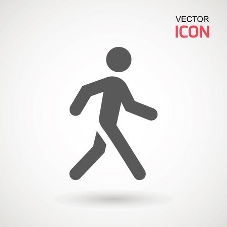 Man walk icon . Walking man vector icon. People walk sign illustration. pedestrian vector sign symbol on white background Ilustração