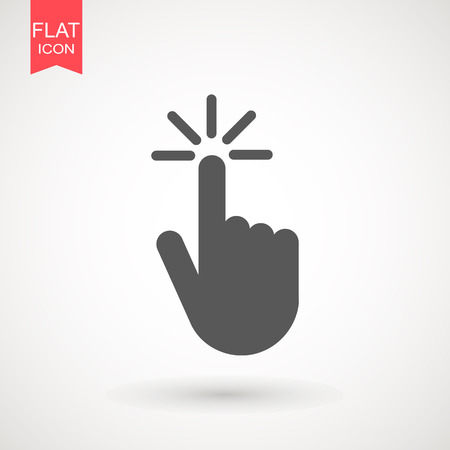 Click hand icon. Vector illustration flat design Reklamní fotografie - 124768161