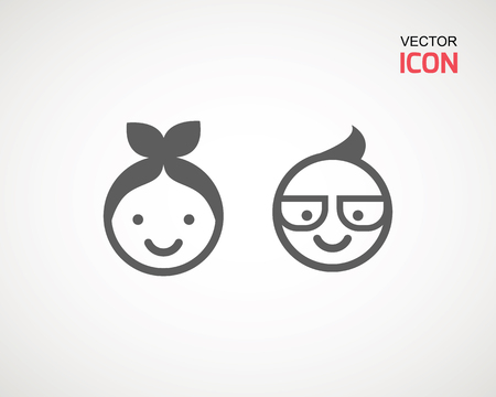 male and female, young or old. Retired elderly senior age couple in creative flat vector character design
