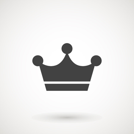 Crown Icon in trendy flat style isolated on grey background. Crown symbol for your web site design, logo, app, UI. Vector illustration, EPS10