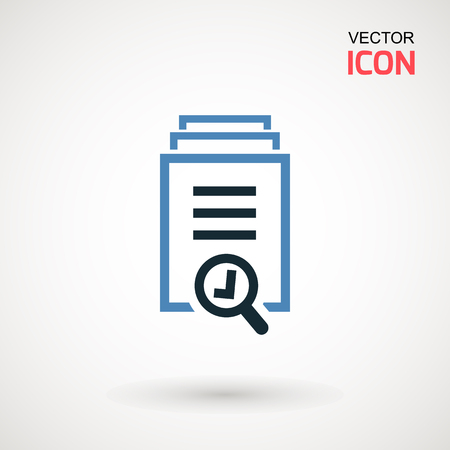 Checklist icon. Declarations linear icon. Flat illustration of clipboard with checklist