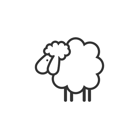 Sheep icon. Animal head. Silhouette icon sheep. Farm sign. Graph symbol for your web site design, logo, app, UI. Ewes