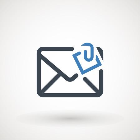 Icona di posta elettronica. Servizi di posta in busta. Contatti messaggio invia lettera isolata piatta