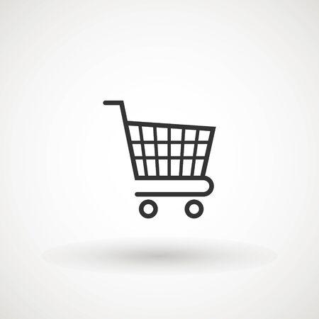 Einkaufswagen-Symbol, flaches Design beste Vektorikone