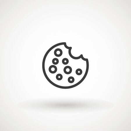 Browser Cookie Icon. Outline Style Icon Cookie icon vector isolated on white background