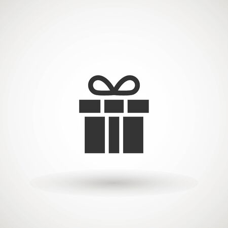 Gift box with ribbon icon, Gift card icon vector. Trendy flat design style on white background.