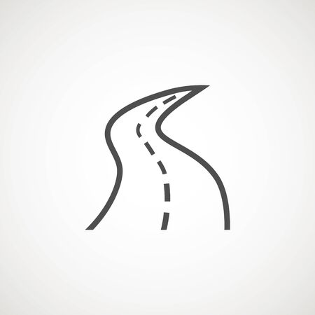 road icon symbol vector  element. Map, navigation, direction and travel
