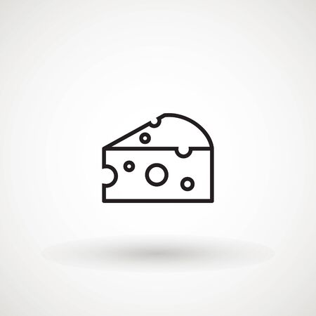 Cheese icon vector, filled flat sign, solid pictogram isolated on white Standard-Bild - 129228845