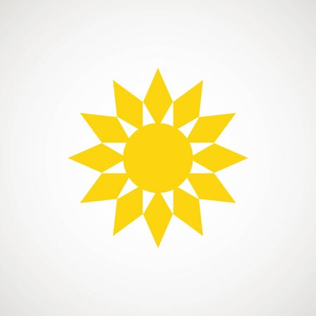 Sun sign symbol icon vector illustration. Sun vector border icon use for admin panels, website, interfaces, mobile apps