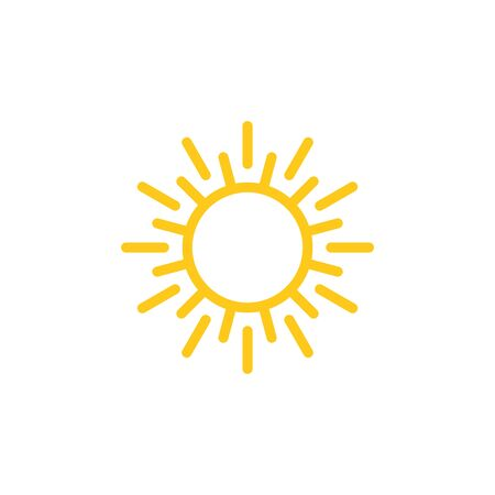 Sun sign symbol icon vector illustration. Sun vector border icon use for admin panels, website, interfaces, mobile apps