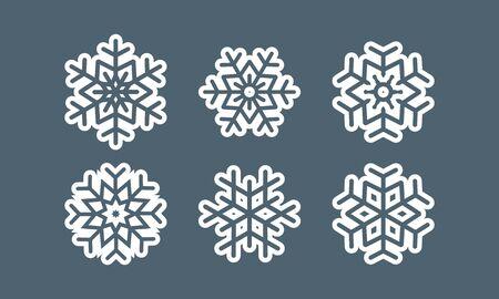 Snowflake vector icon on grey background. s