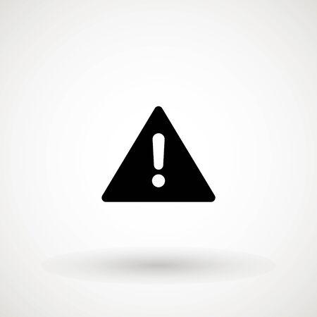 Attention icon. Danger symbol. Exclamation Mark Hazard Warning Symbol Icon Caution Vector Design Illustration. Flat illustration.
