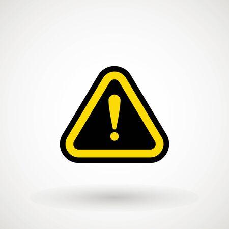 Attention icon. Danger symbol. Exclamation Mark Hazard Warning Symbol Icon Caution Vector Design Illustration. Flat illustration