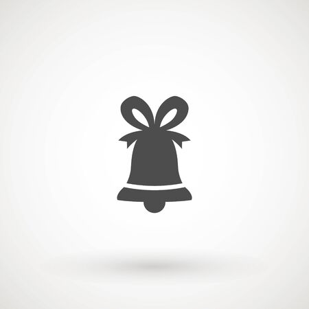 Bell. Flat Vector icon - illustration of christmas bell icon isolated on white Çizim