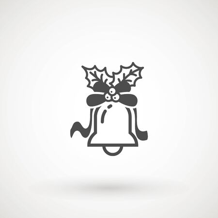 Bell. Flat Vector icon - illustration of christmas bell icon isolated on white  イラスト・ベクター素材