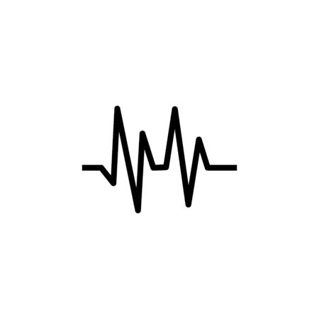 Heartbeat heart beat pulse flat vector icon for medical apps and websites