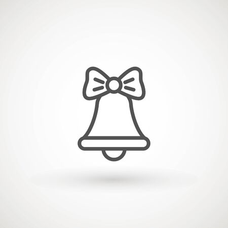 Bell. Flat Vector icon - illustration of christmas bell icon isolated on white.