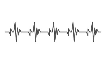 Heartbeat heart beat pulse flat vector icon for medical apps and websites. Çizim