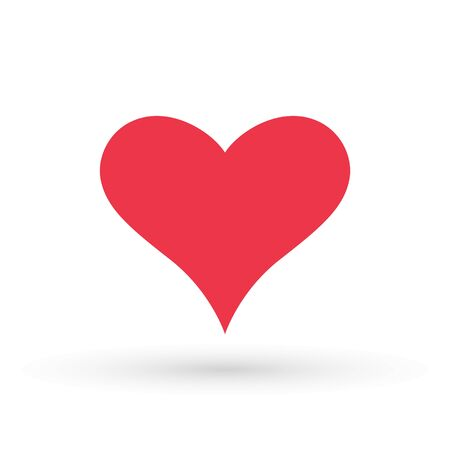 Heart Icon Vector. Valentine heart Icon Drawing