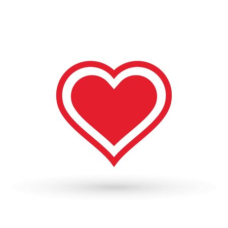 Heart Icon Vector. Valentine heart Icon Drawing. Çizim