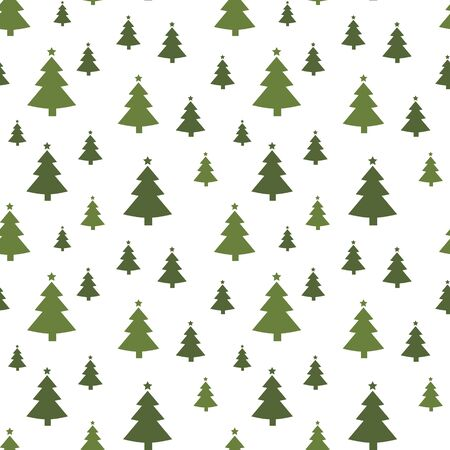 christmas tree seamless pattern. new year firs wrapping paper design, winter holiday decoration,christmas trees modern background