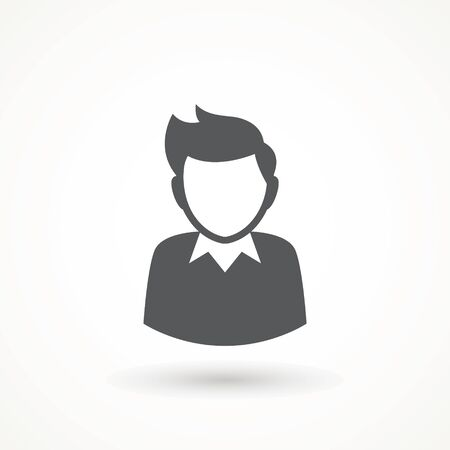 Male avatar icon suitable for info graphics, websites and print media and interfaces. User vector of man in business suit Businessman icon.
