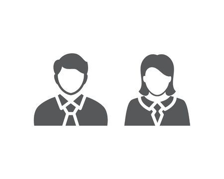 men and women with business avatar profile picture. businesspeople icon - couple, partner teamwork concept.