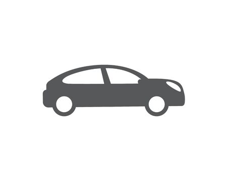 Car vector icon. Isolated simple front logo illustration. Sign symbol. Auto style car logo design with concept sports vehicle icon silhouette. Foto de archivo - 134793541