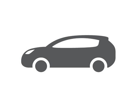 Car vector icon. Isolated simple front logo illustration. Sign symbol. Auto style car logo design with concept sports vehicle icon silhouette. Foto de archivo - 134793545