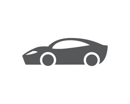 Sport Car vector icon. Isolated simple front logo illustration. Sign symbol. Auto style car logo design with concept sports vehicle icon silhouette Foto de archivo - 134793414