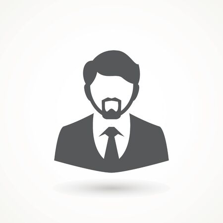 Male avatar icon suitable for info graphics, websites and print media and interfaces. User vector of man in business suit Businessman icon